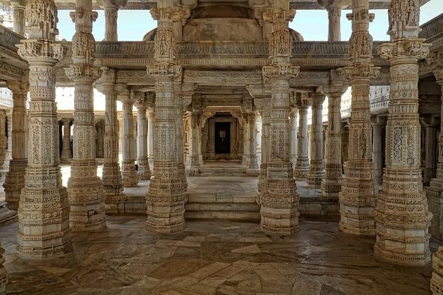 Jain Temple, Chaumukkha Mandir, Ranakpur, Architecture