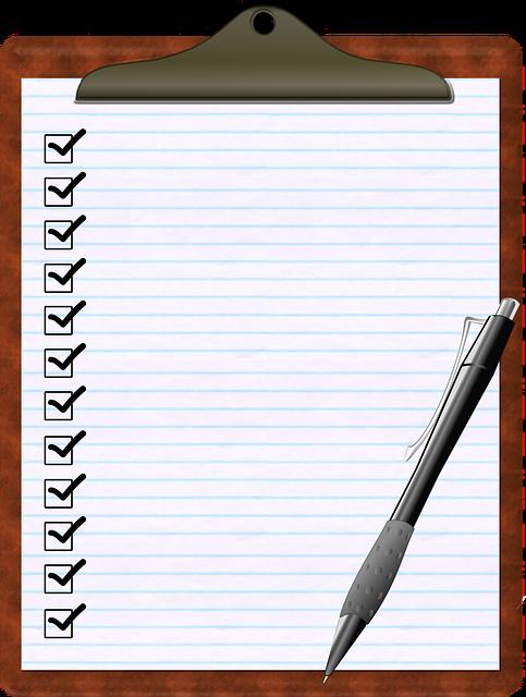 Checklist, Clipboard, Pen, Paper, To Do List, Check Box