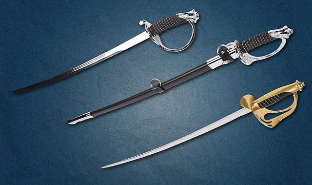 Saber, Weapons, Blade, Hilt, Checker, Steel Arms, Garda