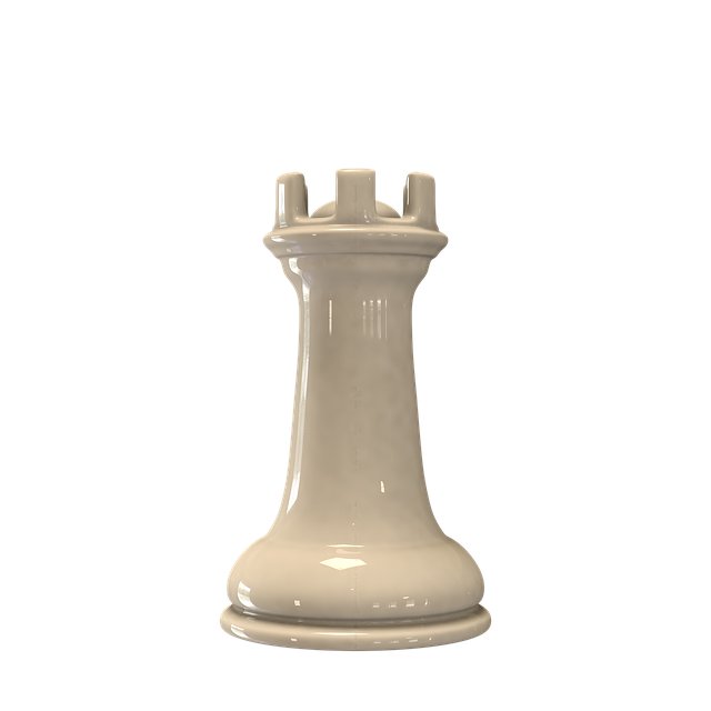 Chess, Figure Rook White, Checkerboard