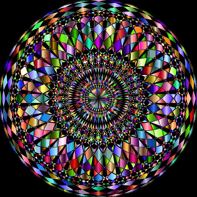 Mandala, Decorative, Ornamental, Checkered, Abstract