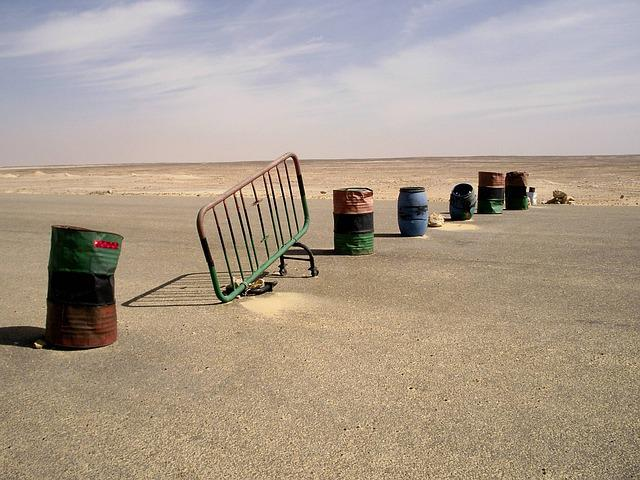 This Is Bogus, Desert, Checkpoint, Road, Egypt