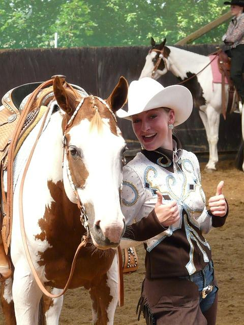 Cowgirl, Horsewoman, Cool, Casual, Cheerful, Thumbs Up