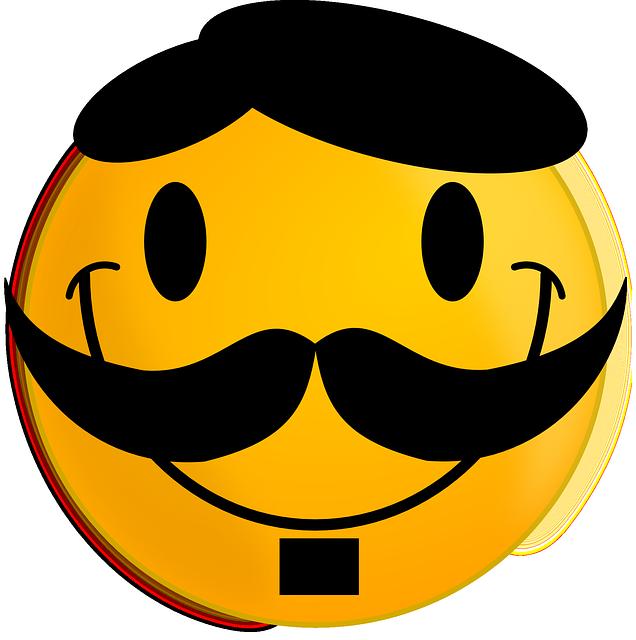 5e392da3558 Free photo Cheerful Smile Happy Moustache Smiley Face - Max Pixel