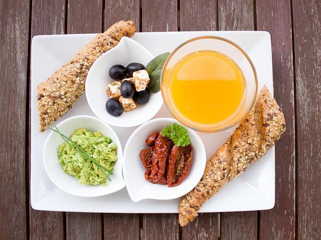 Breakfast, Healthy, Orange Juice, Olives, Cheese