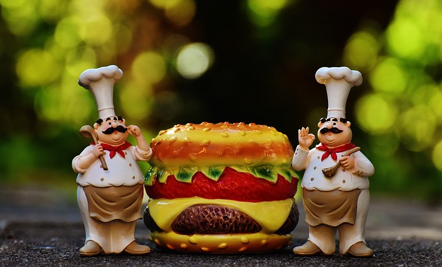 Chefs, Figures, Cheeseburger, Hamburger, Funny, Cook