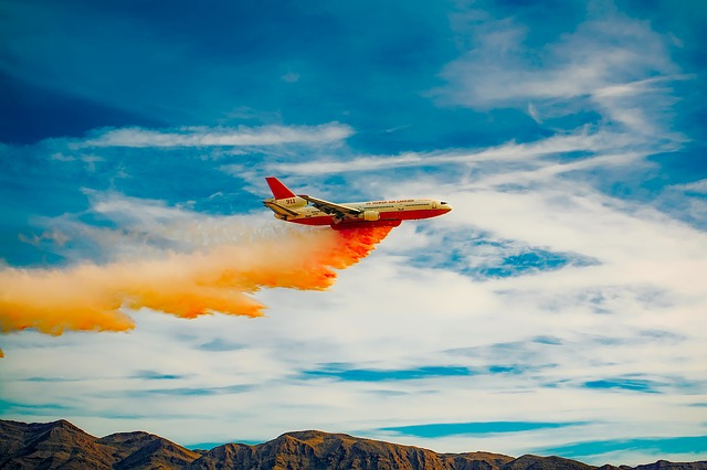 Airplane, Aircraft, Jet, Fire Fighting, Spray, Chemical