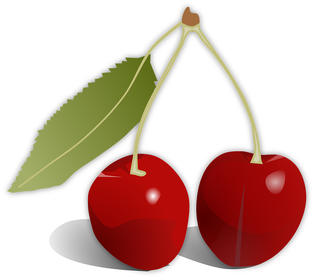 Cherries, Leaf, Fruit, Food, Red, Tasty, Yummy