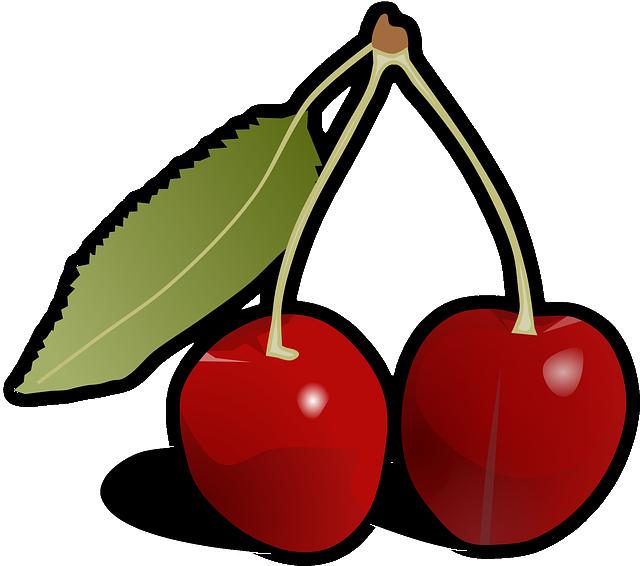 Cherries, Leaf, Fruit, Food, Red, Tasty, Yummy