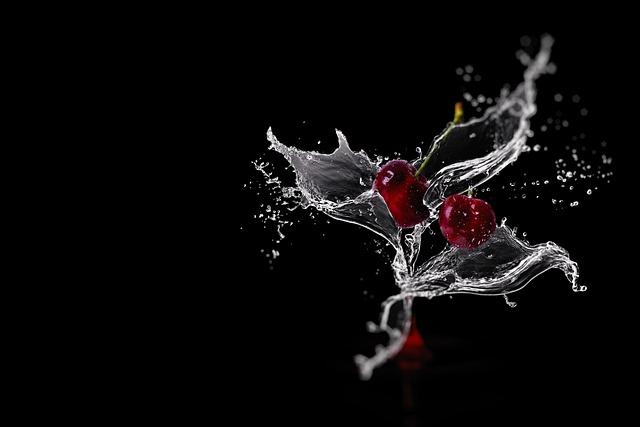 Cherries, Inject, Fruity, Refreshment, Water