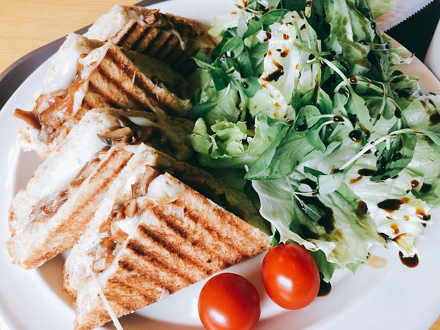 Sandwich, Cherry Tomato, Salad, Brunch