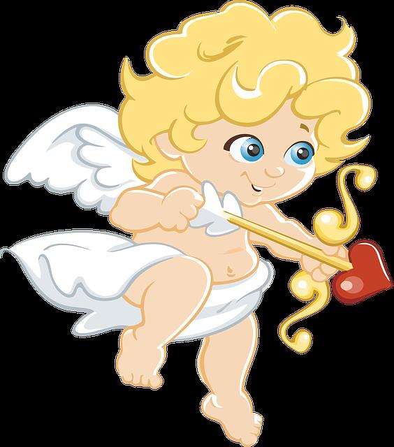 Angel, Arrow, Blonde, Bow, Cartoon, Cherub, Chubby