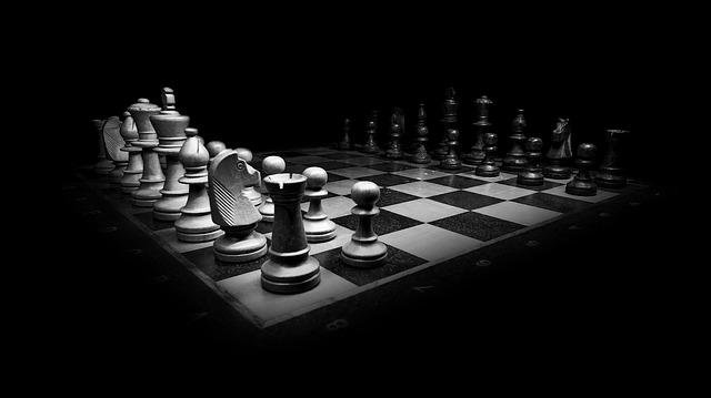 Chess, Black White, Chess Pieces, King, Chess Board