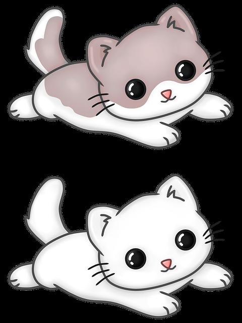 Cat, Kawaii, Feline, Kitten, Tender, Chibi, Adorable