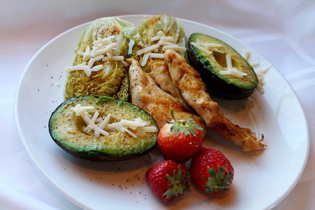 Chicken, Avocado, Heart Salad