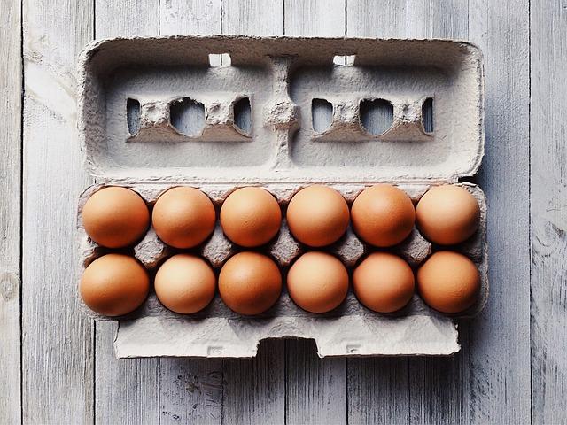 Eggs, Brown, Breakfast, Food, Chicken, Fresh, Carton