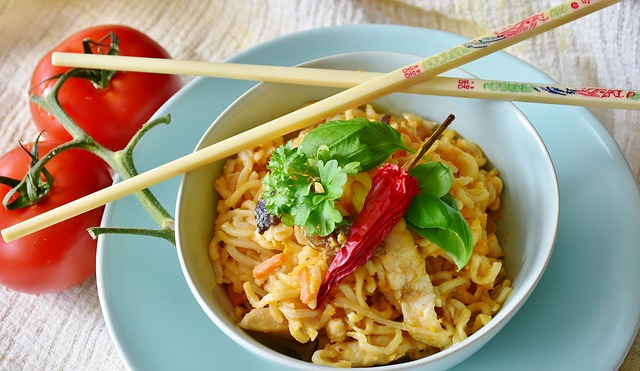 Noodles, Asia, Vegetables, Chicken, Sauce, Eat, Chinese