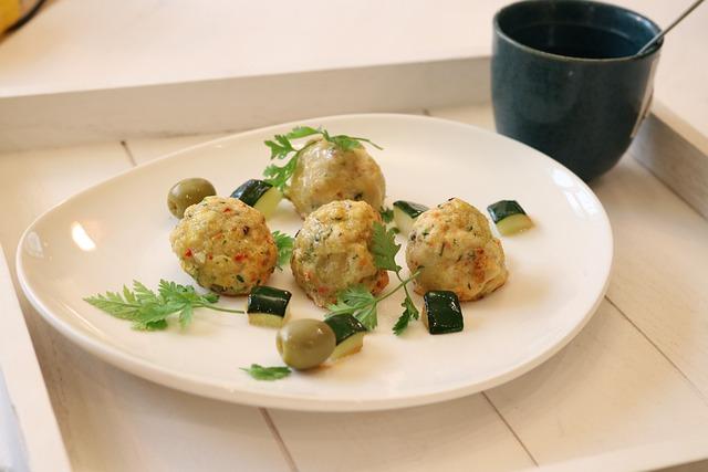 Chicken, Meatballs, Mediterian, Food, Cooking