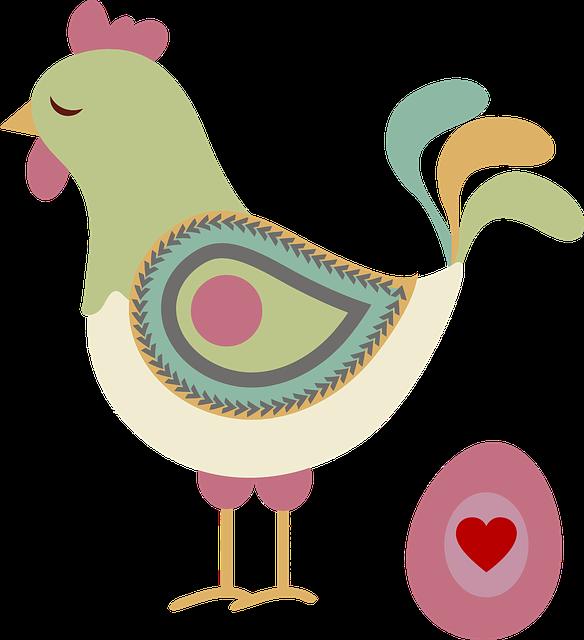 Abstract, Animal, Chicken, Egg, Geometric, Heart, Hen