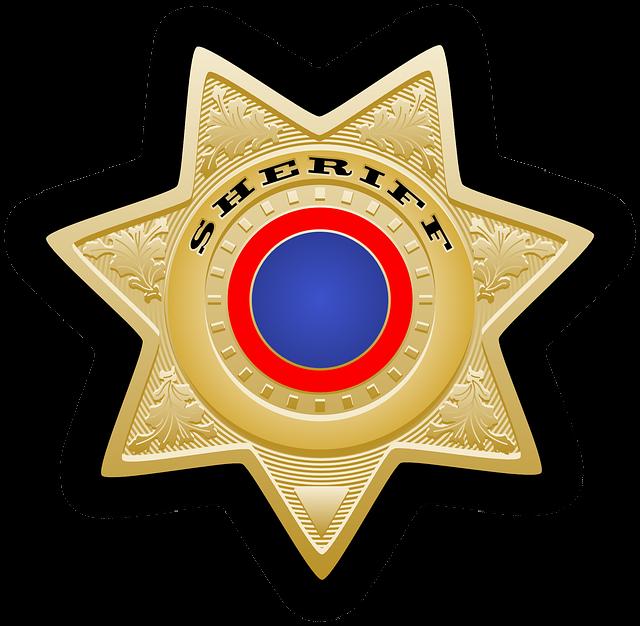 Sheriff's Star, Sheriff, Star, Chief, Law, Police