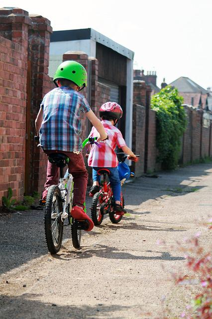 Alley, Bicycles, Bicyclists, Bikes, Boys, Child