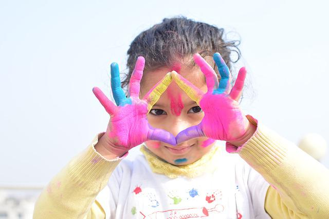 Child, Fun, Cute, Joy, Little, Colors, Colorful, Holi