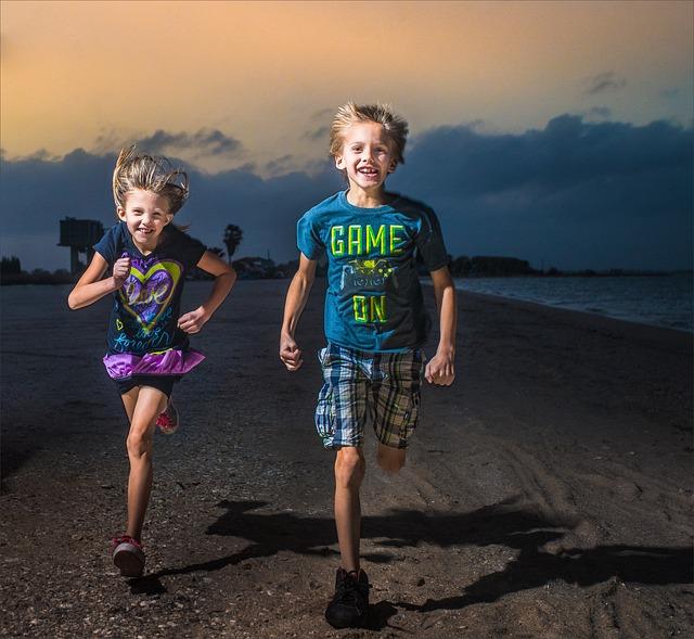 Child, People, Fun, Girl, Beach, Blue, Cyrus, Games