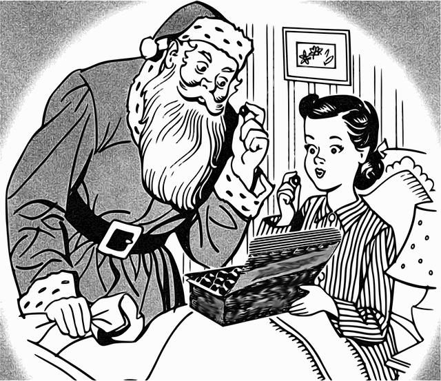 Santa Claus, Christmas, Girl, Child, December, Noel