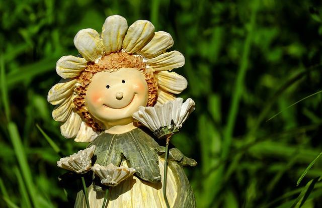 Figure, Child, Flower Child, Face, Funny, Deco