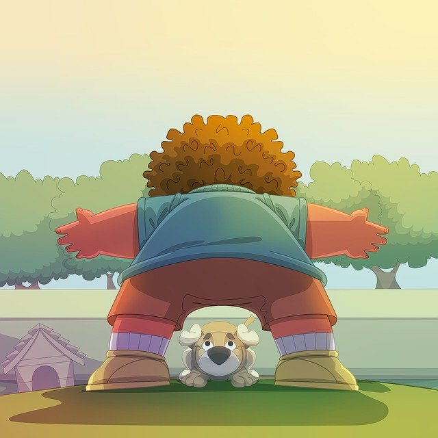 Child, Dog, Playing, Trees, Grass, Green, Boy, Garden