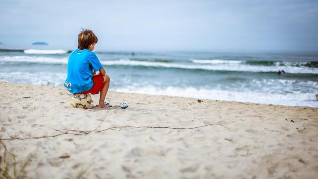 Beach, Child, Enjoyment, Fun, Ocean, Outdoors