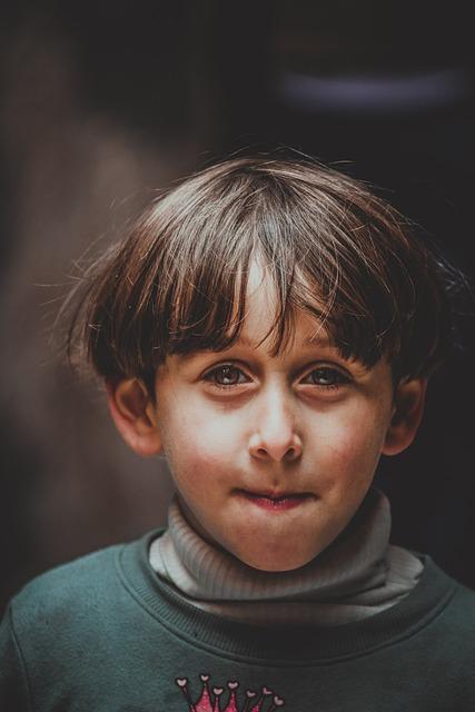 Portrait, Folk, Single, Face, Child, Dark, Clothing