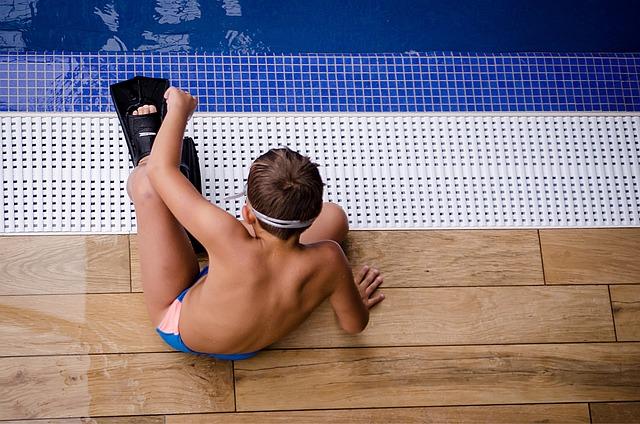Pool, Boy, Child, Fins, Swim, Man, Water, Spa, Sport