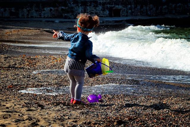 Child, Games, Sea, Children's Games, Kids Games, Girl
