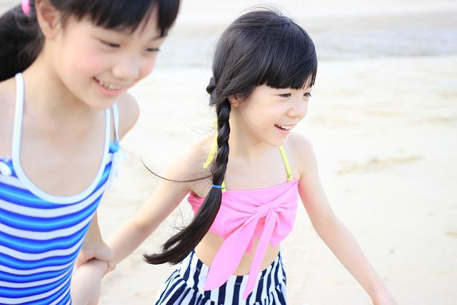 Child, Beach, Liangxiaowucai, Happy, Carefree