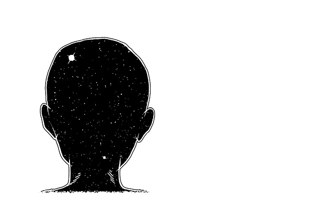 Nape, Head, Child, Cosmos, Painting, Cartoon