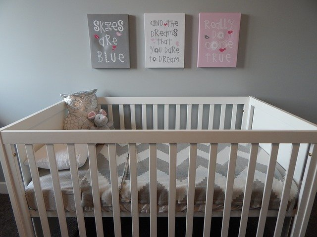 Crib, Nursery, Baby, Bedroom, Childhood, Interior