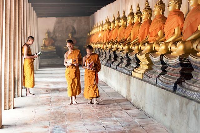 Buddhism, Asia, Boys, Cambodia, Children, Indonesian