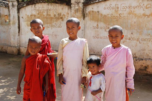 Children, Burma, Students