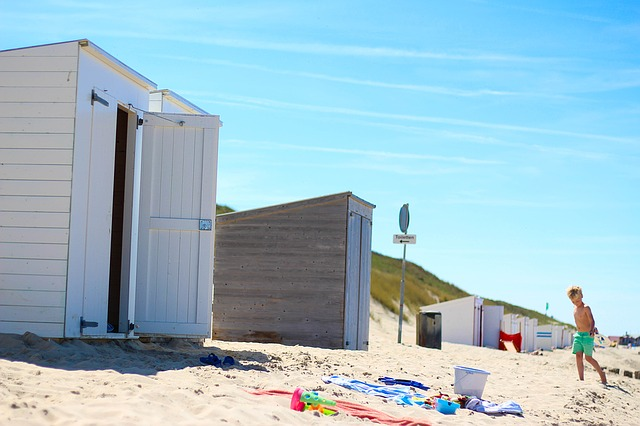 Beach, Domburg, Netherlands, Child, Play, Children