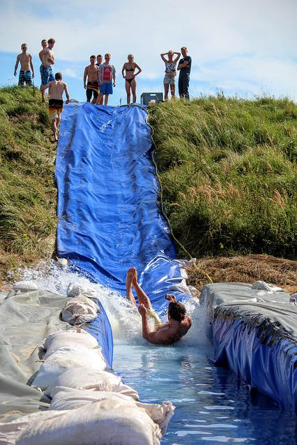 Water Slide, Fun, Children, Large, Water, Leisure