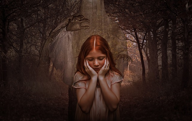 Ghost, Girl, Gothic, Dark, Goth, Children, Forest