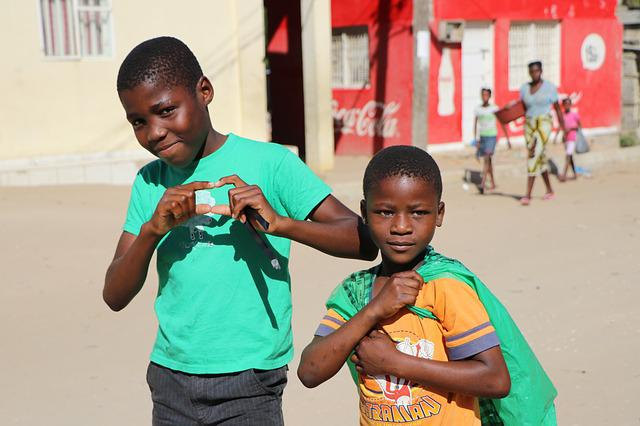 Heart, Children, Africa, Street