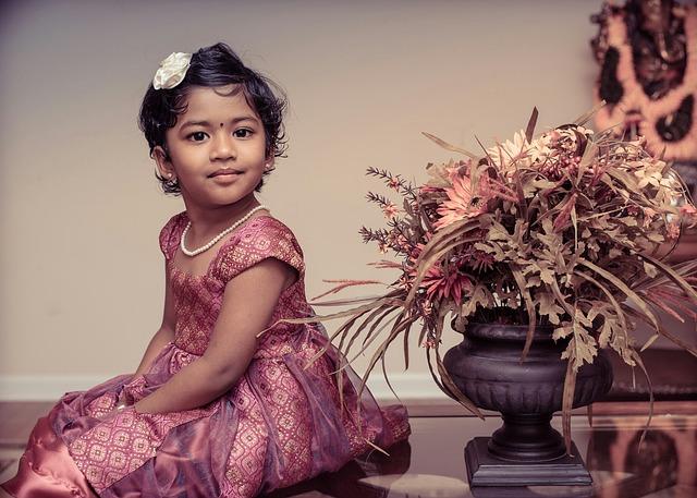 Children, Portrait, Artistic, Girl, Indian, Dress