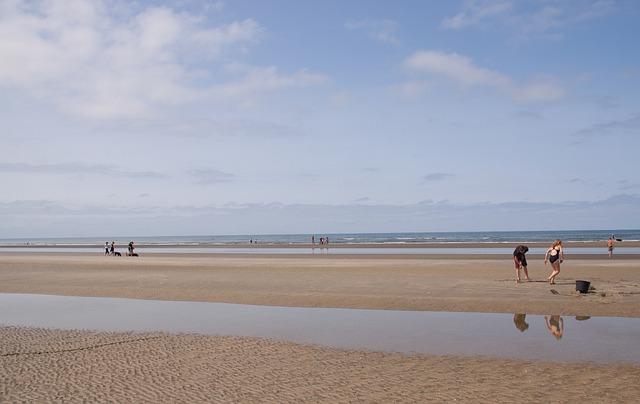 Romo, Lakolk, Wide, Beach, Sand, Children, People