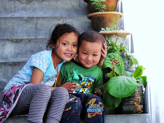 Bhutan, Children, Paro Valley
