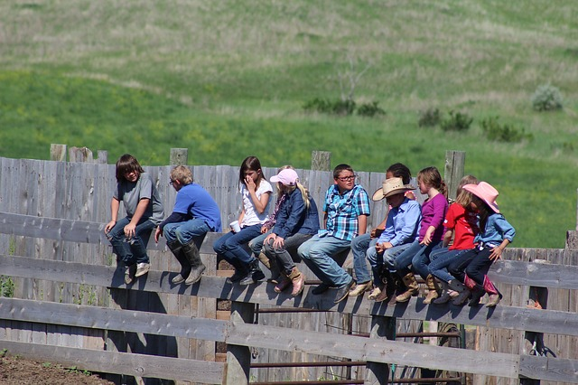 Children, Kids, Rodeo, Sitting, Rundown Bible Camp