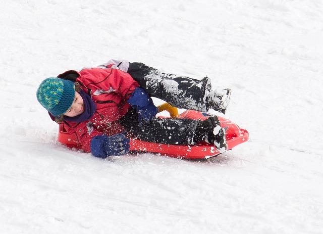 Toboggan, Winter, Slide, Snow, White, Children, Runway