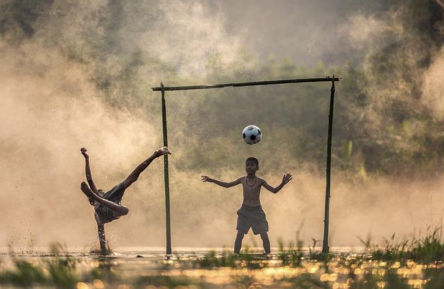 Children, Splash, Asia, Sunset, Thailand, Kick, Boys