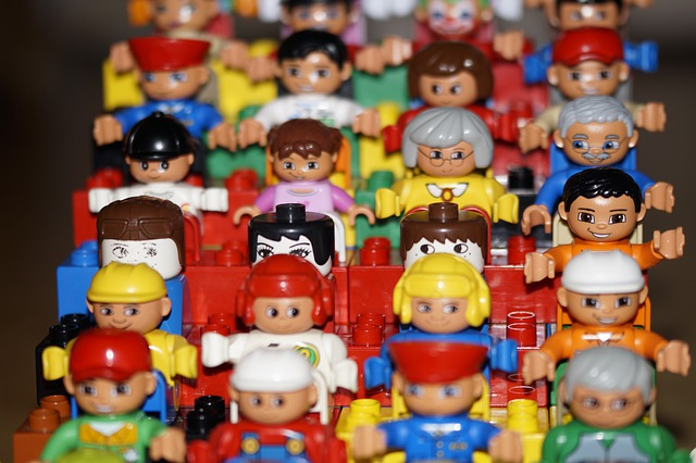 Grandstand, Toys, Males, Child, Children, Viewers, Lego